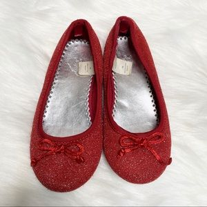 GAP Red Sparkle Toddler Flats. Sz 10